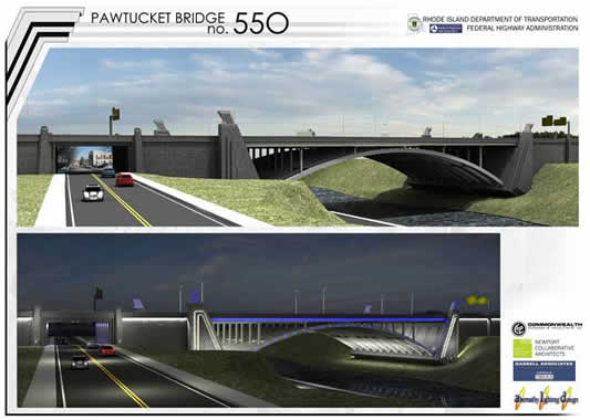 Pawtucket River Bridge Rendering Long Views