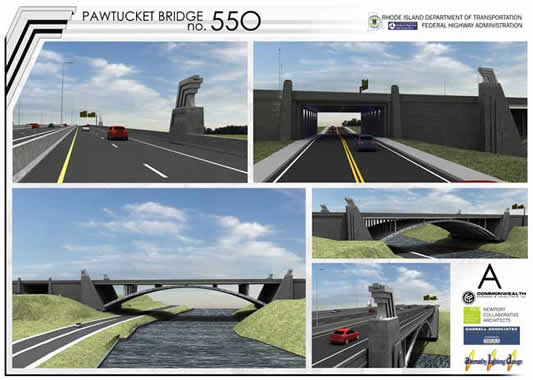Pawtucket River Bridge Rendering New Designs