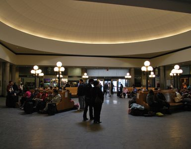 Interior of Providence Train Station