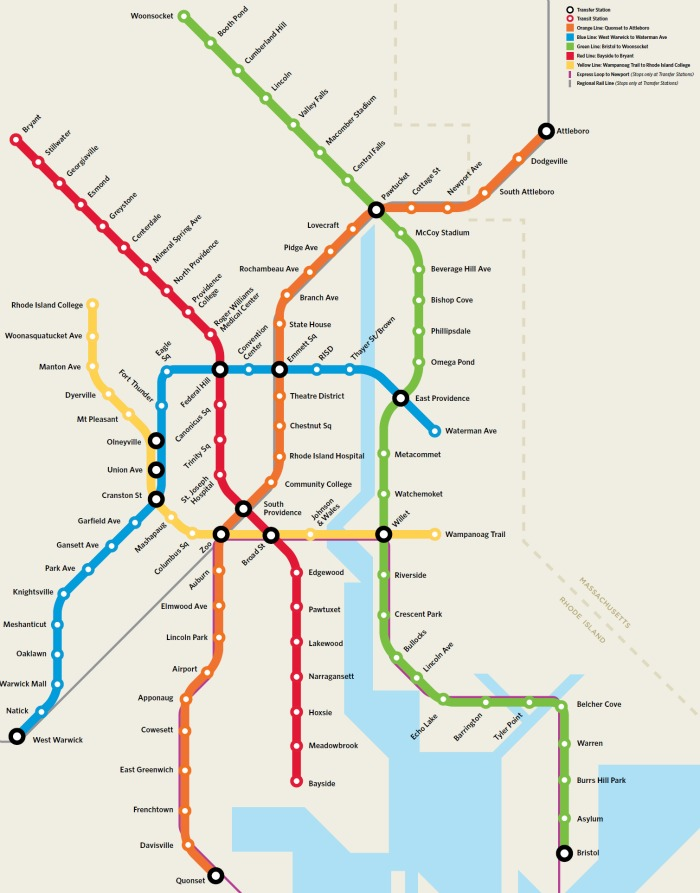 Crowdsourcing The Improbable Providence Subway Map Greater City - Transit map
