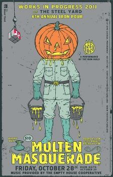 Halloween Iron Pour: Molten Masquerade