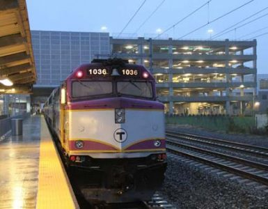 Commuter Rail train at T.F. Green Station