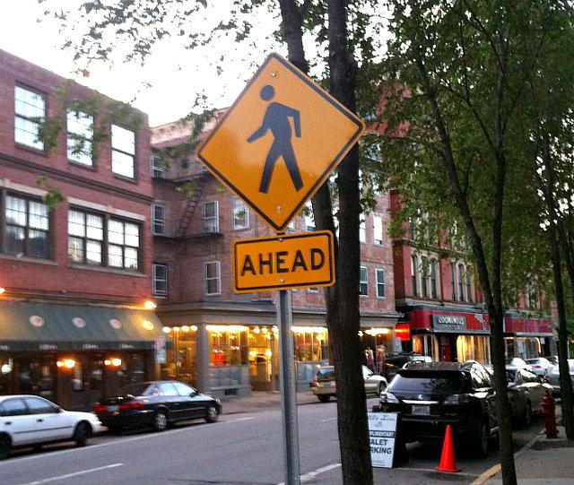 Pedestrians Ahead