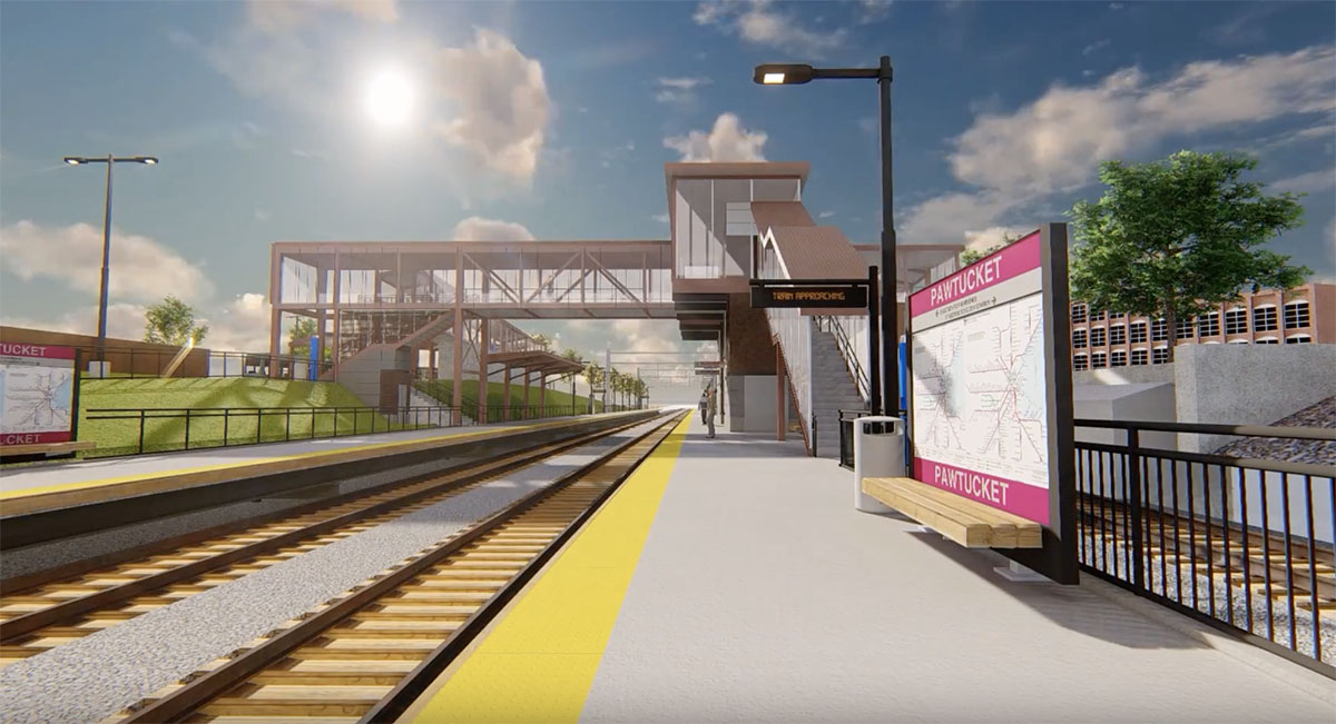 Video: Pawtucket/Central Falls Commuter Rail Station and Bus